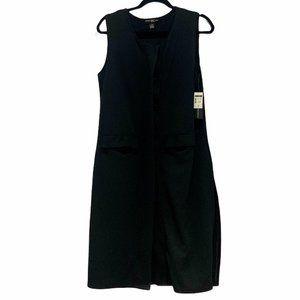 International Concepts INC Button up Vest Black L
